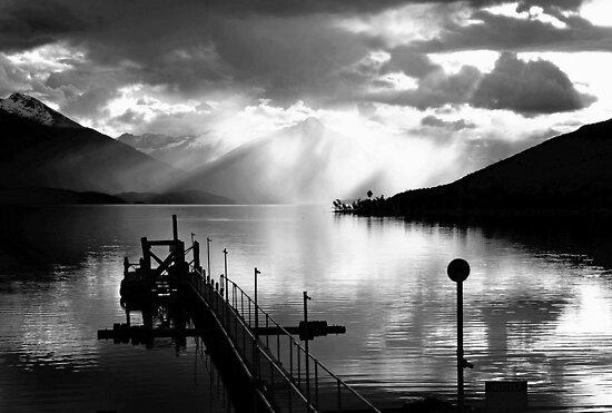 Lake Te Anau sunset. South Island, New Zealand. (4) by Ralph de Zilva