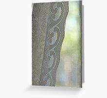 lace,pastels,diagonal,screen window Greeting Card