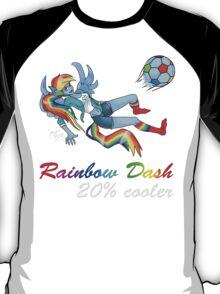 20% Cooler, Rainbow Dash Playing Soccer T-Shirt