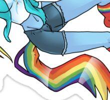 20% Cooler, Rainbow Dash Playing Soccer Sticker