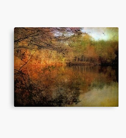 Painterly Pond Canvas Print