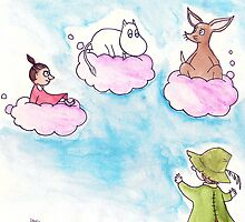 Moomin and the Clouds by Ken Mahon