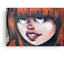 Blue Eyes - Red Hair Girl Canvas Print