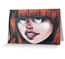 Blue Eyes - Red Hair Girl Greeting Card