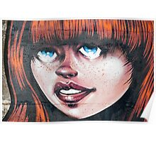 Blue Eyes - Red Hair Girl Poster