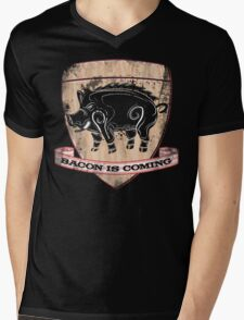 House Pork - Bacon is Coming Mens V-Neck T-Shirt