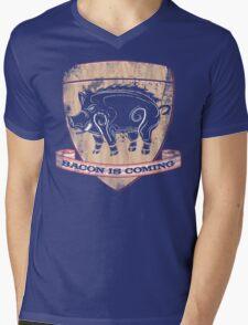 House Pork - Bacon is Coming Mens V-Neck T-Shirt