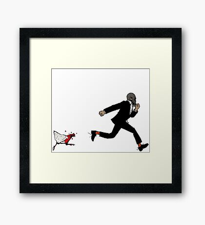 Leroy Having To Deal With The Unexpected Return Of That Dreaded No Good Evil Zombie Chicken Framed Print