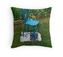 Wavy chair Throw Pillow