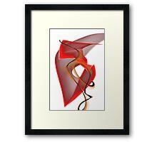 Heart's Golden Ribbon Framed Print
