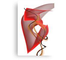 Heart's Golden Ribbon Metal Print
