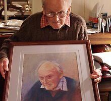 Hubert with his Portrait by Lynda Robinson