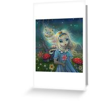 Alice in Wonderland by Molly Harrison Greeting Card