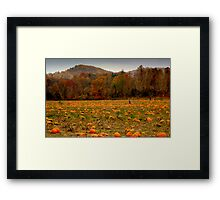 A Fall Scene - PUMPKIN PATCH ^ Framed Print
