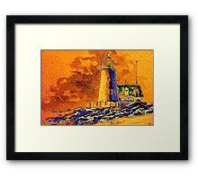 Safe Beacon at Sundown Framed Print