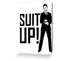 Barney Suit Up Greeting Card