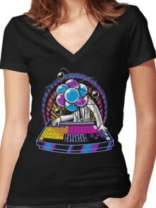 Periodic Turntable Women's Fitted V-Neck T-Shirt