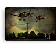 Heading For Trouble Canvas Print