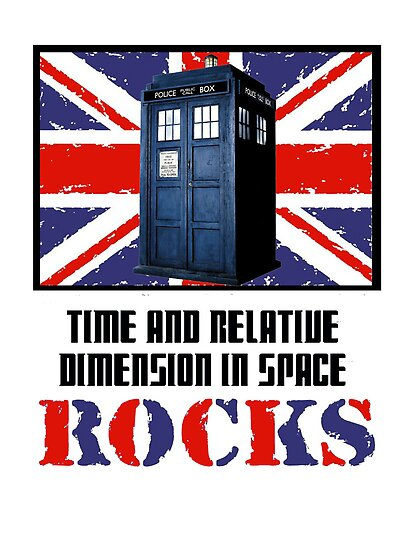Time and Relative Dimension in Space Rocks  by PopCultFanatics