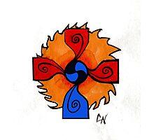 Sun Celtic Cross - C.nick Photographic Print
