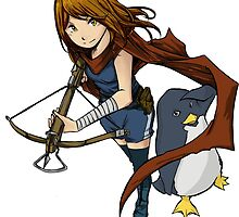 Penguin Girl by FarmGraphics