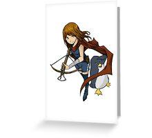 Penguin Girl Greeting Card