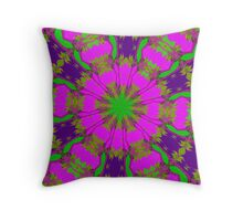 Flowery Fun. Throw Pillow