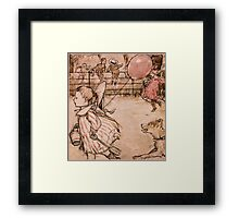 PINK BALLOON Framed Print