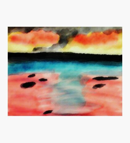 Abstract seascape, watercolor Photographic Print