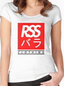 RSS バラ CLOTHING (BLACK TEXT) Women's Fitted Scoop T-Shirt