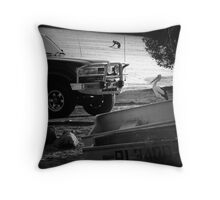 """""""Gone Fishing"""" (Literally) Throw Pillow"""