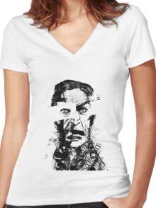 Burning Man Women's Fitted V-Neck T-Shirt