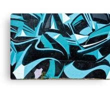 Abstract Blue Graffiti Canvas Print