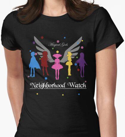 Madoka Magica - Neighbourhood Watch  Womens Fitted T-Shirt