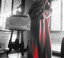 Me posing as Gustav Klimt by jonolaf