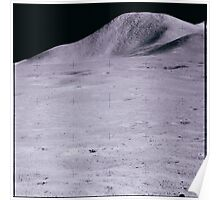 Apollo Archive 0100 Moon Mountain on Lunar Surface Poster
