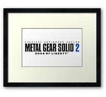 Metal Gear Solid 2 Mug Framed Print