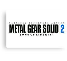 Metal Gear Solid 2 Mug Canvas Print