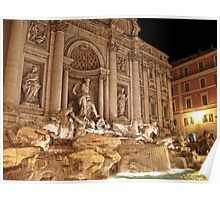 Trevi Fountain Night Poster
