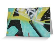 Close Up Graffiti Greeting Card