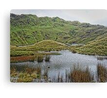 Exploring Snowdon Canvas Print