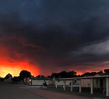 Sunset Storm - Moree by Hans Kawitzki