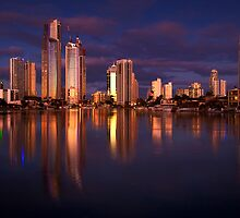 Twilight Reflection - Surfers Paradise by Hans Kawitzki