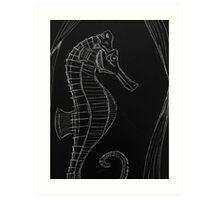 Dark (Sea) Horse Art Print