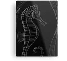 Dark (Sea) Horse Metal Print