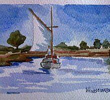 wooden boat by Kostas Koutsoukanidis