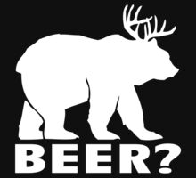 Beer Funny Deer Bear Humor Joke by DheDhe-Store