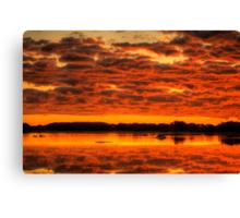 Clouds reflected brilliantly at Rivoli Wetlands, Beachport Canvas Print