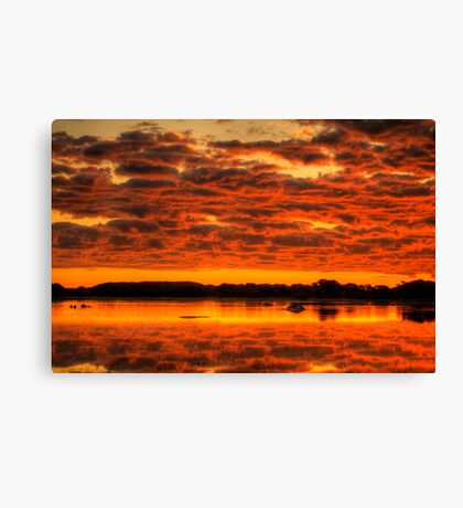 Clouds reflected brilliantly at Rivoli Wetlands, Beachport Canvas Print
