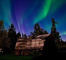 Country Night Auroras by peaceofthenorth